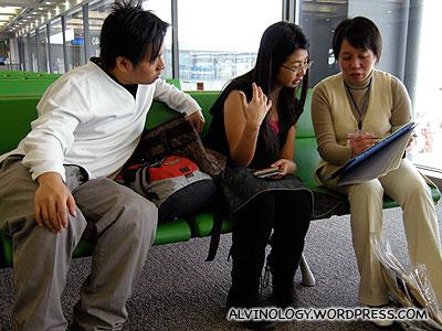 Mark and Meiyen doing a survey
