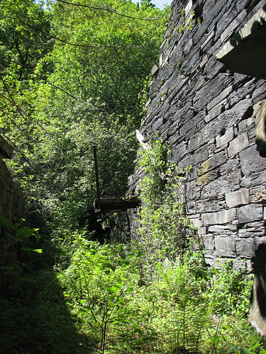 Remains of slate quarry buildings, Betws-y-Coed