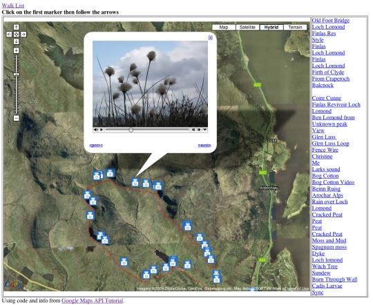 glen finlas walk mapped