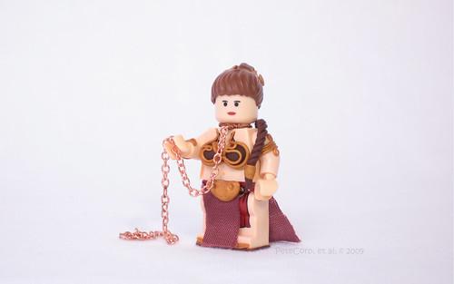 Lego Slave Leia custom minifig