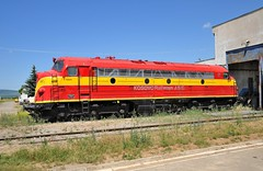 Kosovo Railways NOHAB-GM diesel-electric locomotive 006, at Fushe Kosove locomotive depot, June 13, 2009, in a paint scheme somewhat like a Florida East Coast Railway locomotive from the US. (Ivan S. Abrams) Tags: railroad train nikon eisenbahn railway railwaystation sp kosova kosovo locomotive trainspotting locomotives coveredwagon southernpacific freighttrain smrgsbord passengertrain kfor emd goodstrain diesellocomotive funit kosove eunit lokomotif nohab unmik gs4 dieselelectriclocomotive personenzug raifan d700 southernpacificdaylight kosovorailways onlythebestare ivansabrams locomotivedepot nikon24120mmf3556gvr cabunit railbuff norwayrailways nohabgm bulldognose gutrezug trains98and99 nikkor24120mmf35mmf3556gvr abramsandmcdanielinternationallawandeconomicdiplomacy ivansabramsarizonaattorney ivansabramsbauniversityofpittsburghjduniversityofpittsburghllmuniversityofarizonainternationallawyer