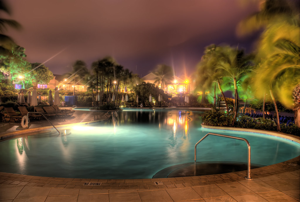HDR of the Ritz Carlton Hotel Pool by Andrew Perreault