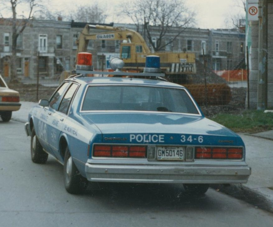 Chevrolet Caprice Police. MONTREAL CHEVY CAPRICE POLICE