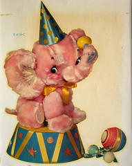 elephant decal (Super*Junk) Tags: baby elephant cute animals vintage circus pastel crafts plush decal meyercord