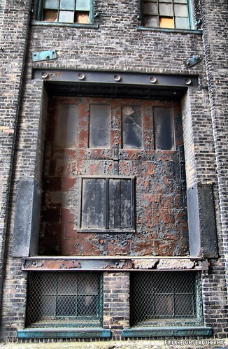 Dark Brick Warehouse Door