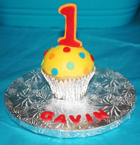 1st birthday jumbo cupcake smash cake