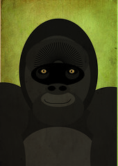 GORILLA2 (THEFUNCTIONALFOX) Tags: africa colour cute art nature up animal animals illustration vintage typography design graphicdesign sketch words artwork graphics rainforest child bradford graphic gorilla drawing wildlife creative fluffy style retro creation mockup cover worn type weathered layers illustrator teaching alphabet create lettering concept creatures habitat ideas vectors letterform mock wwf layering roughs vintageillustration visualartist animalvector alphabeasties illustratia thefunctionalfox analoguedesign graphicpostertexturelayoutcollegeuniversitydegreework