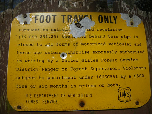 Foot Travel Only Sign