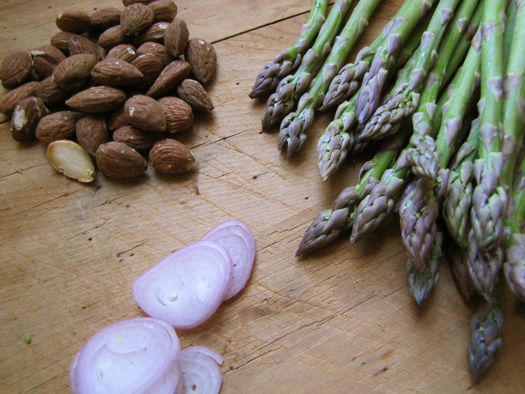 Blanched Asparagus with Almonds, Shallots & Lemon – Not