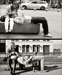 BODY LANGUAGE  (davies.thom) Tags: make diptych couple streetphotography bodylanguage lovers romantic whack make7 make2 make10 make5 make3 make6 whack4 whack5 make8 whack7 whack9 whack2 whack3 make4 whack6 make9 whack8 daviesthom thomdavies