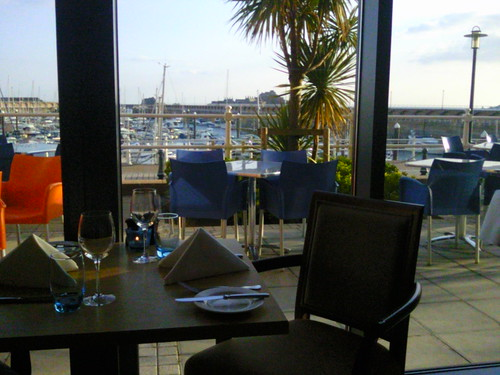 View from Radisson Blu Waterfront Jersey restaurant