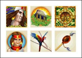 free Inca Gold slot game symbols