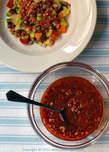 Seven Vegetables Quinoa with Harissa