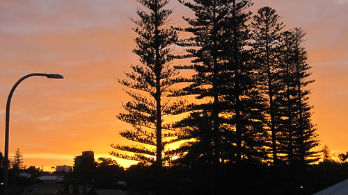Sunrise at Cottesloe Station