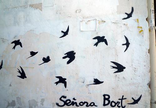 pinturas en la pared golondrinas