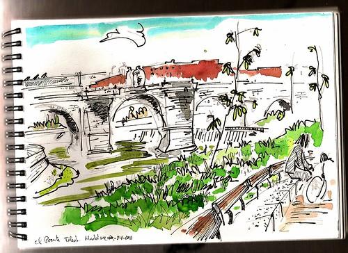 el puente de Toledo, Madrid