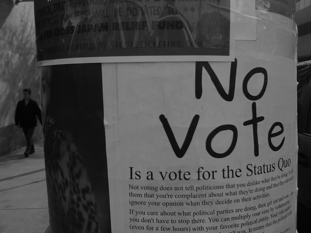 no vote is a vote for the status quo