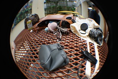 Messy table! (Bag, sweater, lens, remote) (Ⓙⓞⓔⓨ) Tags: bag lens table sweater random fisheye messy remote bazaar forever21 cottonon canon1000d bedokview digitalinishootfilm