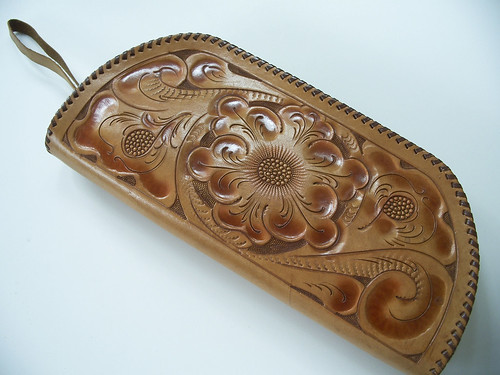 the perfect hand-tooled clutch