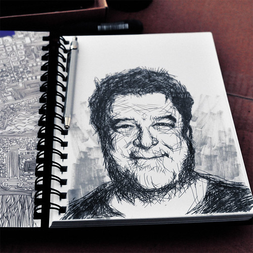 Sketchbook and John Goodman