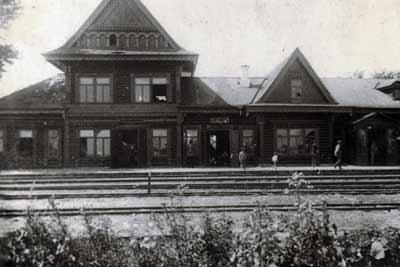 Житомир, деревяный вокзал