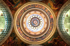 Capitol Ceiling (Brady Withers) Tags: color detail canon painting lights utah wideangle ceiling lookingup capitol chandelier saltlakecity rotunda hdr utahstatecapitol paintedceiling photomatix sigma1020 richcolor utahcapitolbuilding rebelxsi bwsterlingphotography mystillfuzzylife