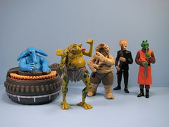 """The """"special edition"""" Max Rebo Band (FranMoff) Tags: max dan musicians toys starwars band droopy aliens actionfigures jabba kenner hasbro returnofthejedi doda sy tatooine hutt rebo mccool snootles barquin bodonawieedo af1647 af1647p"""