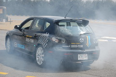 Smoking tires (Carlos Gutirrez G.) Tags: speed mazda3 needforspeedundercover