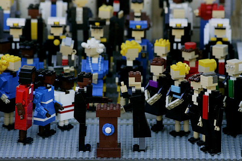 Inauguration 2009, Lego Style (AP Photo/Sandy Huffaker)