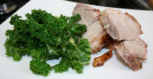 Roast Pork with Kale