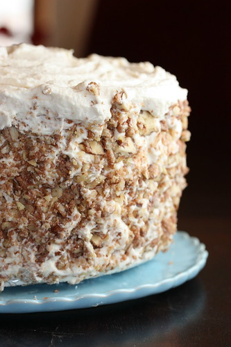 Banana Coconut Cake Layered With Whipped Chocolate Frosting And ...