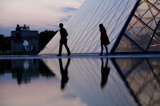 Pyramide du Louvre - Mai 2008