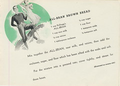 Go hike! with your all bran brown bread (Vegefoodie) Tags: breakfast cereal 1950s vegetarian recipes kelloggs