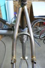 bridge/brake exit detail (Hufnagel Cycles) Tags: carved stem hand steel made custom cyclocross integrated fillet seatpost brazed hufnagel