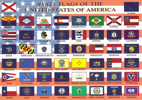 Flickriver Photoset US Flag Cards By Crayolamom - Us state flag map
