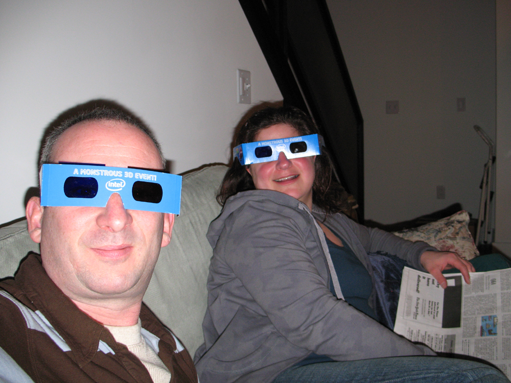 Superbowl 3D glasses