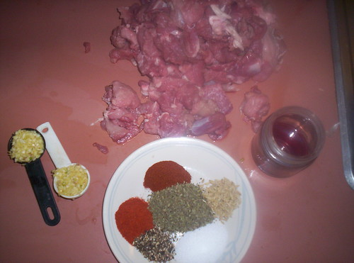 Ingredients for Sausage