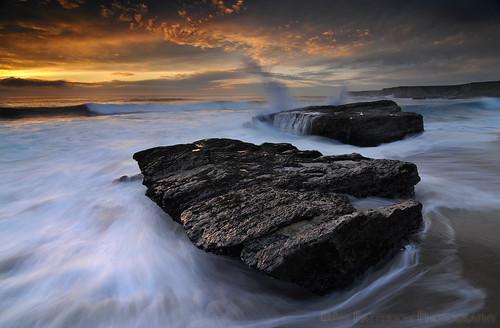 Hole In The Wall Beach - Davenport, California