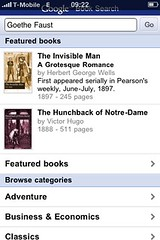 Google Book Search Mobile Edition auf dem iPhone