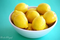 When life gives you lemons, take photos of them (4) (Piccolina Photography) Tags: stilllife food green yellow fruit spring bright sunny bowl lemons citrus fruitbowl whitebowl foodphotography citrusfruit happycolors