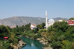neretva (.::Danka::.) Tags: river minaret mostar bosnia jami neretva balkan nikond60 nikkor1855mmf3556edvr