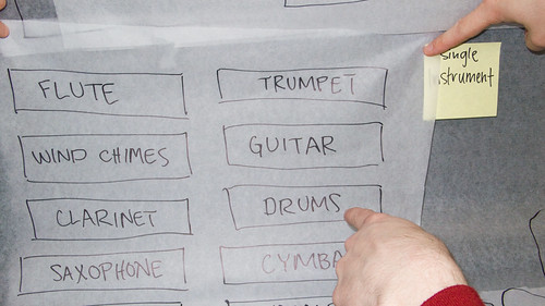 Touch Screen of (Deaf) Rock   Initial Instrument Selection Concept