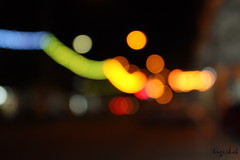 Colors (bngishak On & Off) Tags: blue red orange white green colors lights nightshot bokeh outoffocus canon450d bngishak