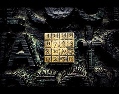 33 (Chee Seong) Tags: barcelona door winter church canon spain europe catholic roman sagradafamilia 2009 passionfacade magicsquare antonigaud canon1022mm 400d