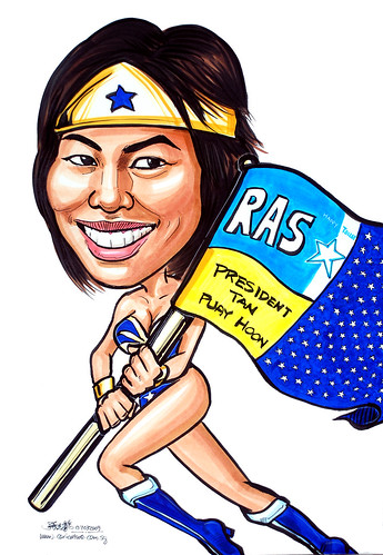 Caricature for Restroom Association Singaproe RAS Wonder Woman