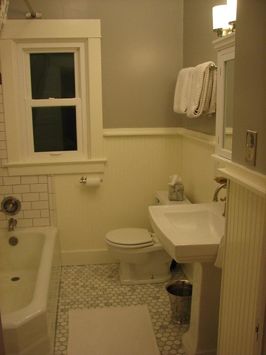 Subway Tile Bathroom Beadboard Beadboard And Subway Tile Mechanics