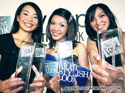 The three winners