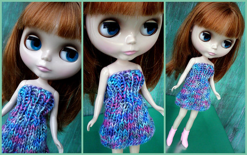 Blythe's New Handknit Silk Dress