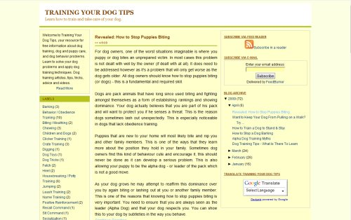 Training Your Dog Tips