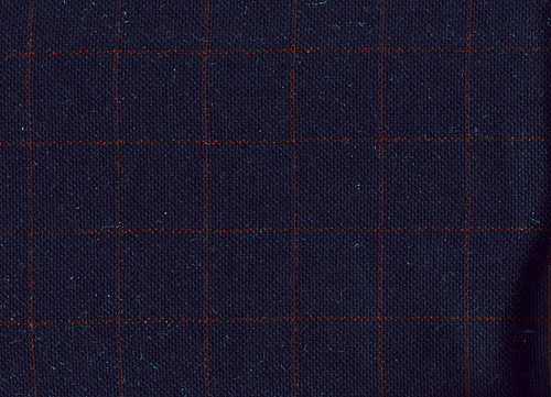 Navy Wool Plaid